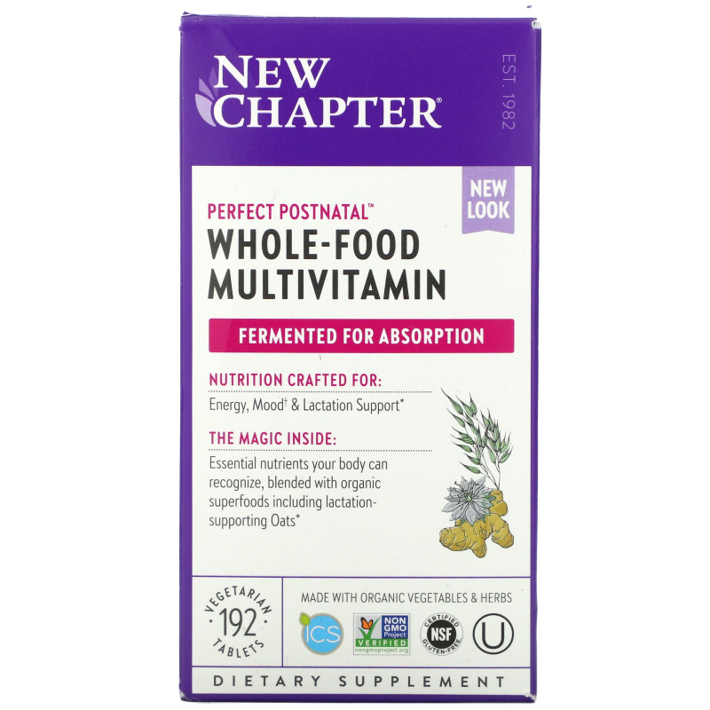 New Chapter, Perfect Postnatal Multivitamin, 192 Vegetarian Tablets