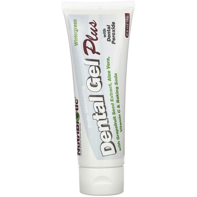 NutriBiotic, Dental Gel Plus, Truly Whitening, Wintergreen, 4.5 oz (128 g)
