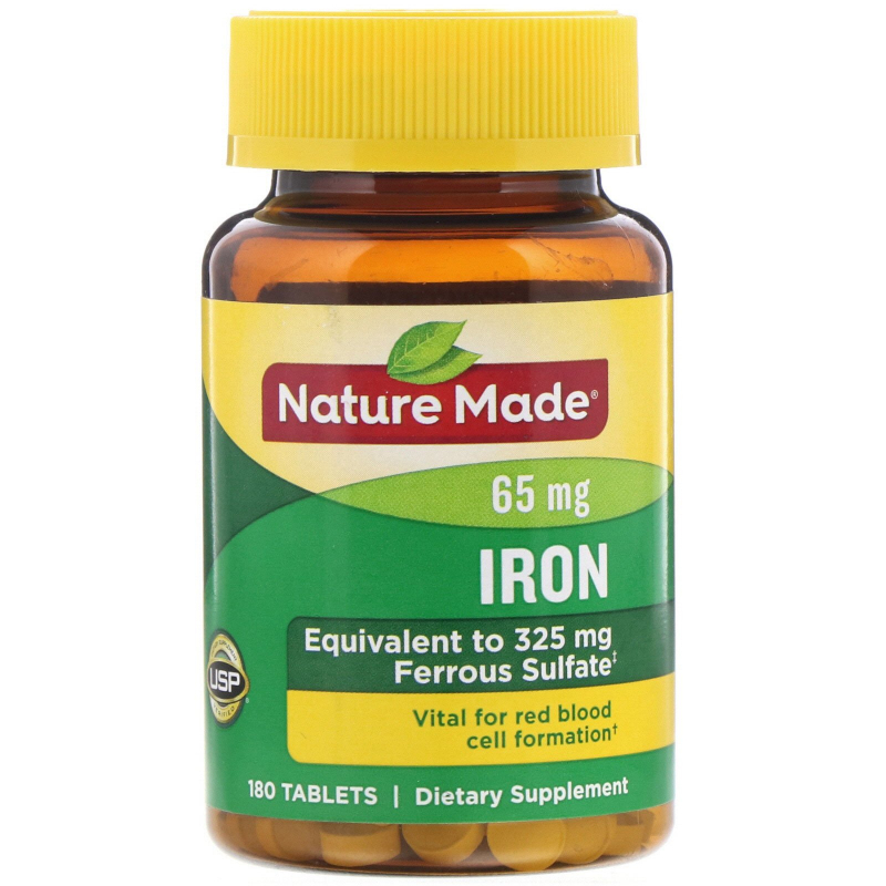 Nature Made, Iron, 180 Tablets