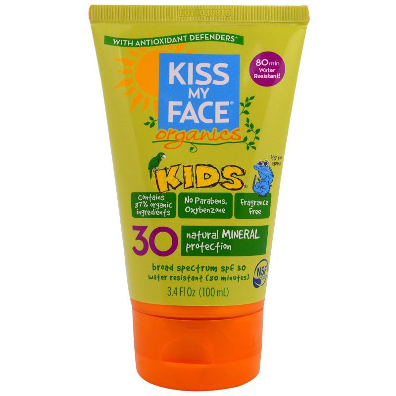 Kiss My Face, Organics, Kids, Face & Body Mineral Sunscreen, SPF 30, 3.4 fl oz (100 ml)