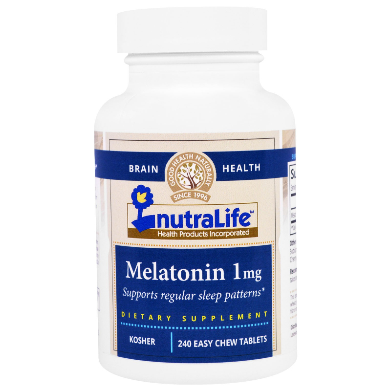 NutraLife, Melatonin, 1 mg, 240 Easy Chew Tablets