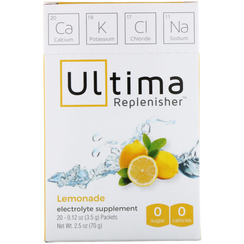 Ultima Replenisher, Electrolyte Powder, Lemonade, 20 Packets, 0.12 oz (3.5 g) Each