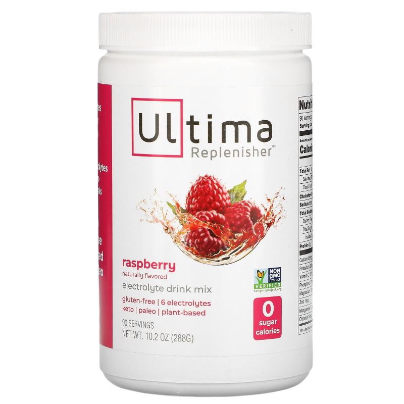Ultima Replenisher, Electrolyte Powder, Raspberry, 10.2 oz (288 g)