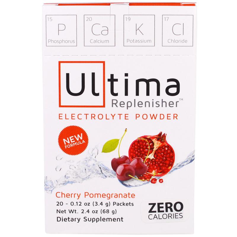 Ultima Replenisher, Electrolyte Powder, Cherry Pomegranate, 20 Packets, 0.12 oz (3.4 g)