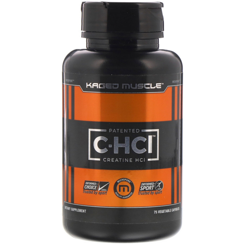 Kaged Muscle, Patented C-HCI, 75 Vegetarian Capsules
