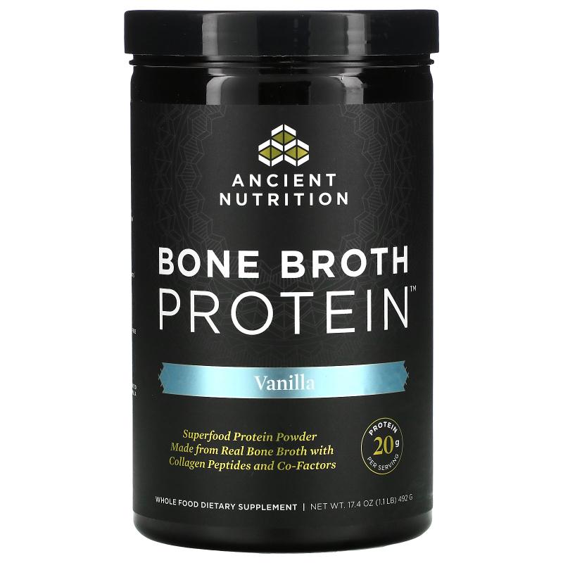 Dr. Axe / Ancient Nutrition, Bone Broth Protein, Vanilla, 16.2 oz (460 g)