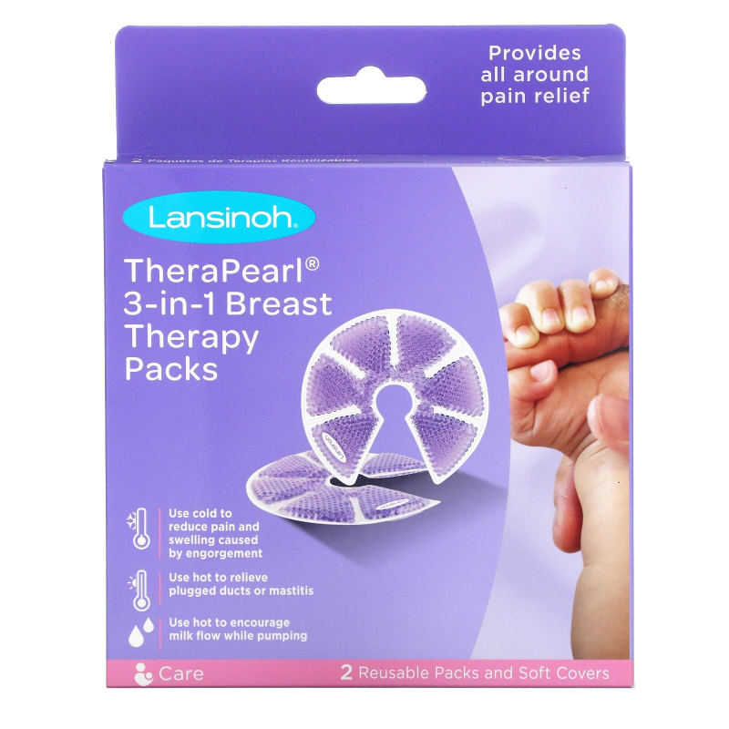 Lansinoh, TheraPearl, 3-in-1 Breast Therapy, 2 Packs