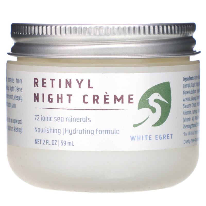 White Egret Personal Care, Retinyl Night Cream, 2 fl oz (59 ml)