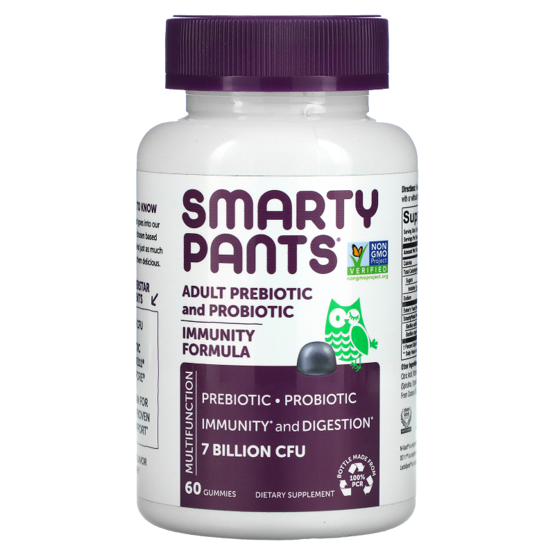 SmartyPants, Adult Probiotic Complete, Blueberry, 60 Gummies
