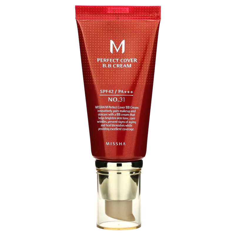 Missha, M Perfect Cover BB Cream, No. 31 Golden Beige, 50 ml