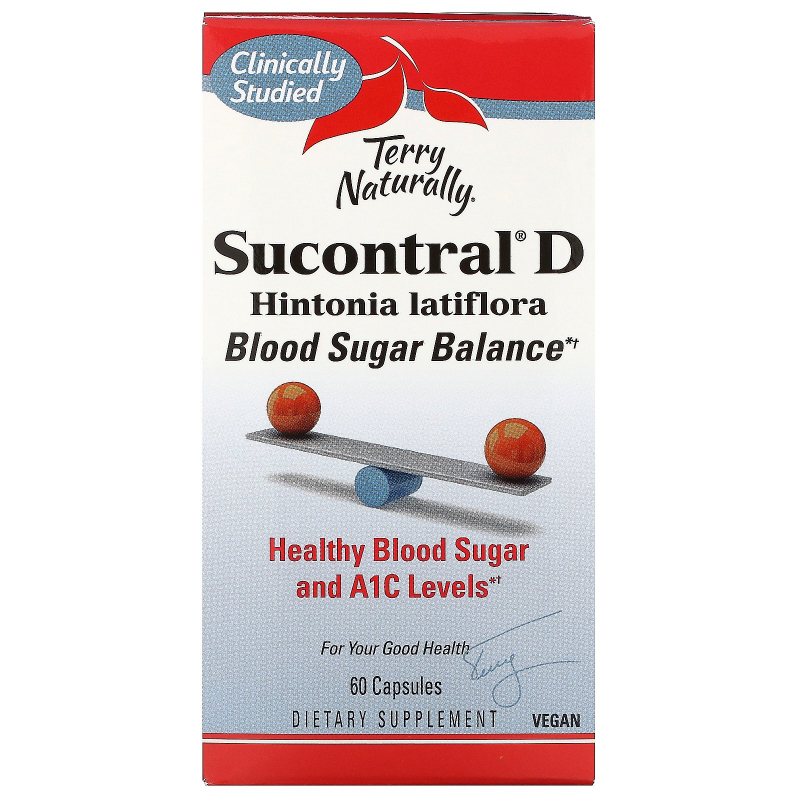 EuroPharma, Terry Naturally, Sucontral D, 60 Capsules