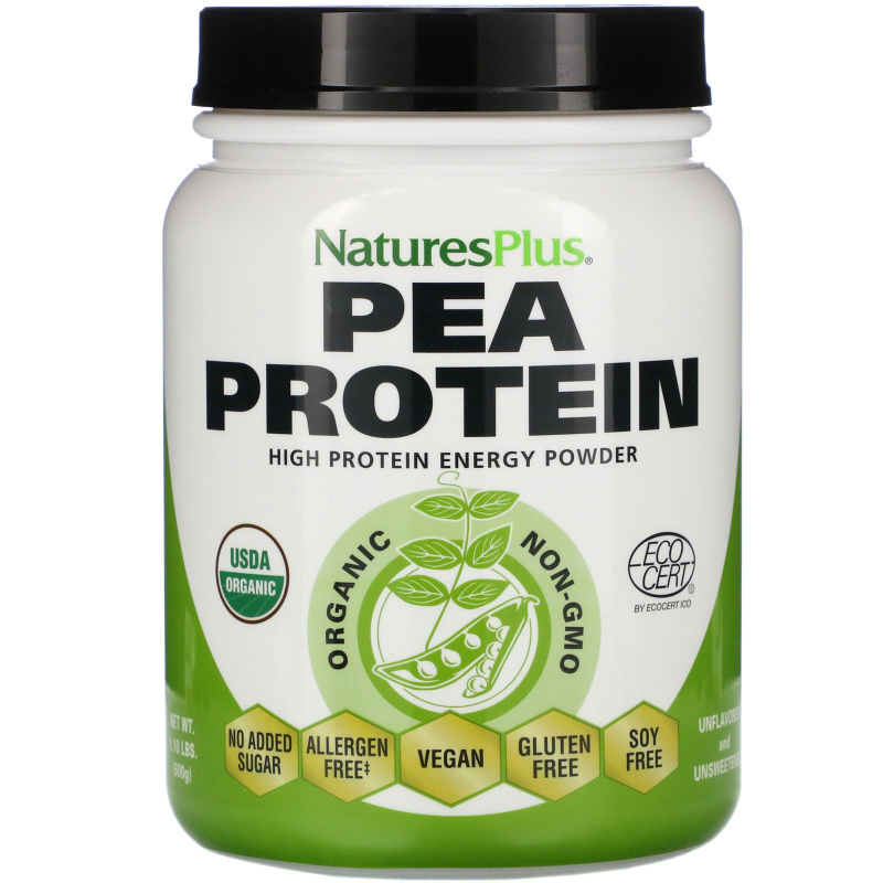 Nature's Plus, Organic Pea Protein Powder, 1.10 lbs (500 g)