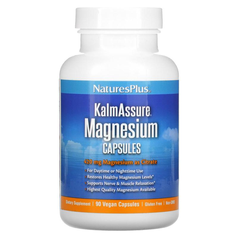 Nature's Plus, Kalmassure, Magnesium, 400 mg, 90 Vegan Capsules