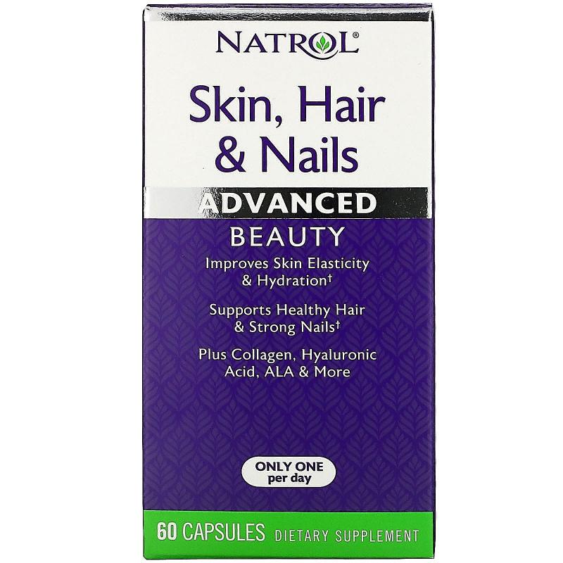 Natrol, Skin, Hair & Nails, Advanced Beauty, 60 Capsules