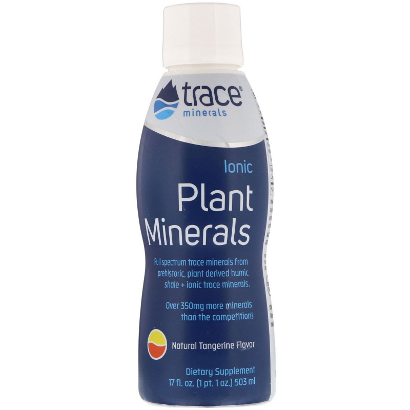 Trace Minerals Research, Ionic Plant Minerals, Tangerine Flavor, 17 fl oz (503 ml)