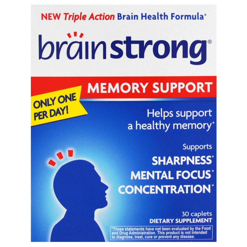 BrainStrong, Memory Support, 30 Caplets