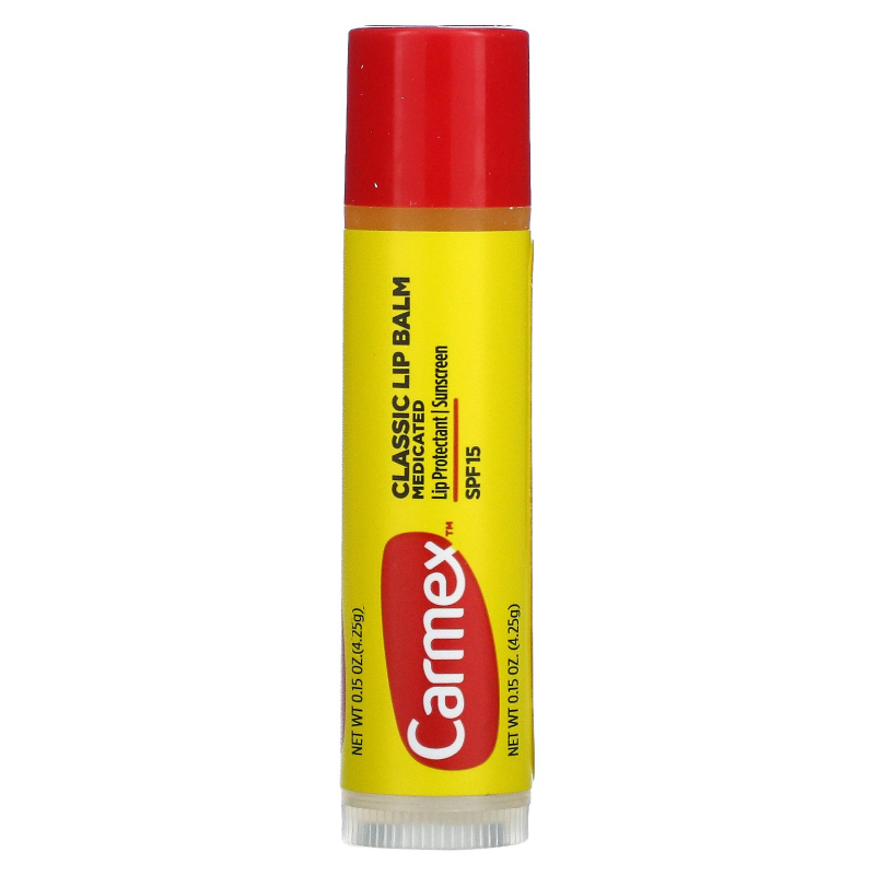 Carmex, Classic Lip Balm, Medicated SPF 15, .15 oz (4.25 g)