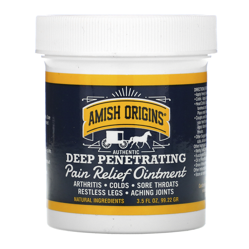 Amish Origins, Deep Penetrating, Pain Relief Ointment, 3.5 fl oz (99.22 g)