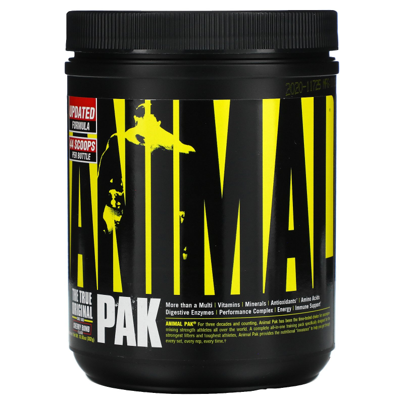 Universal Nutrition, The Original Animal Pak, Animal Training Powder, Cherry Berry, 369 g