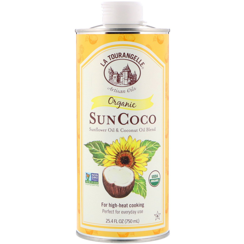 La Tourangelle, Organic Sun Coco, Sunflower Oil & Coconut Oil Blend, 25.4 fl oz (750 ml)