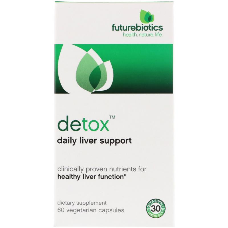FutureBiotics, Detox, Daily Liver Support, 60 Vegetarian Capsules
