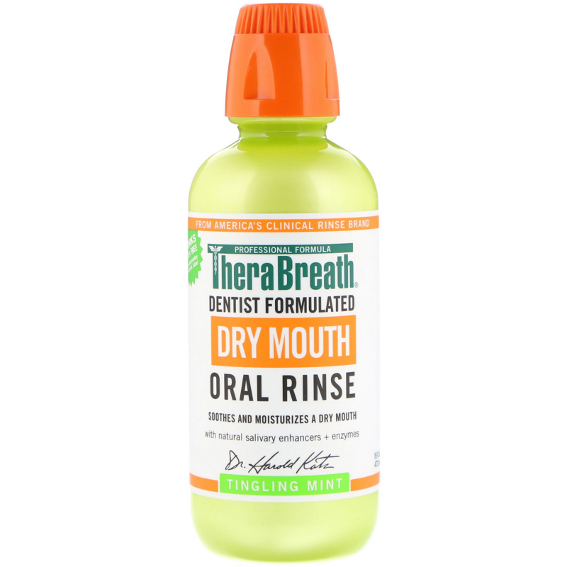 TheraBreath, Dry Mouth Oral Rinse, Tingling Mint, 16 fl oz (473 ml)