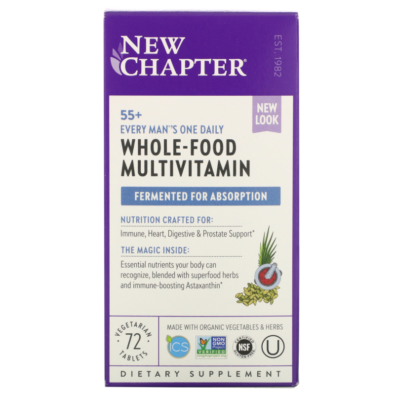 New Chapter, 55+ Every Man's One Daily Multi, 72 Veggie Tabs