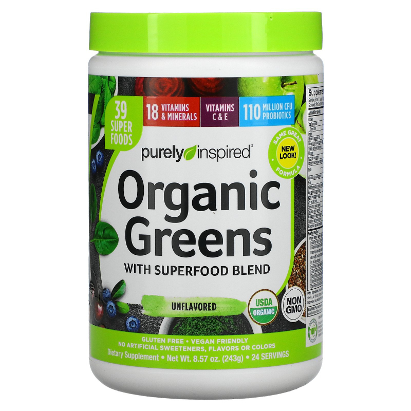 Purely Inspired, Organic Greens, Unflavored, 7.17 oz (203 g)