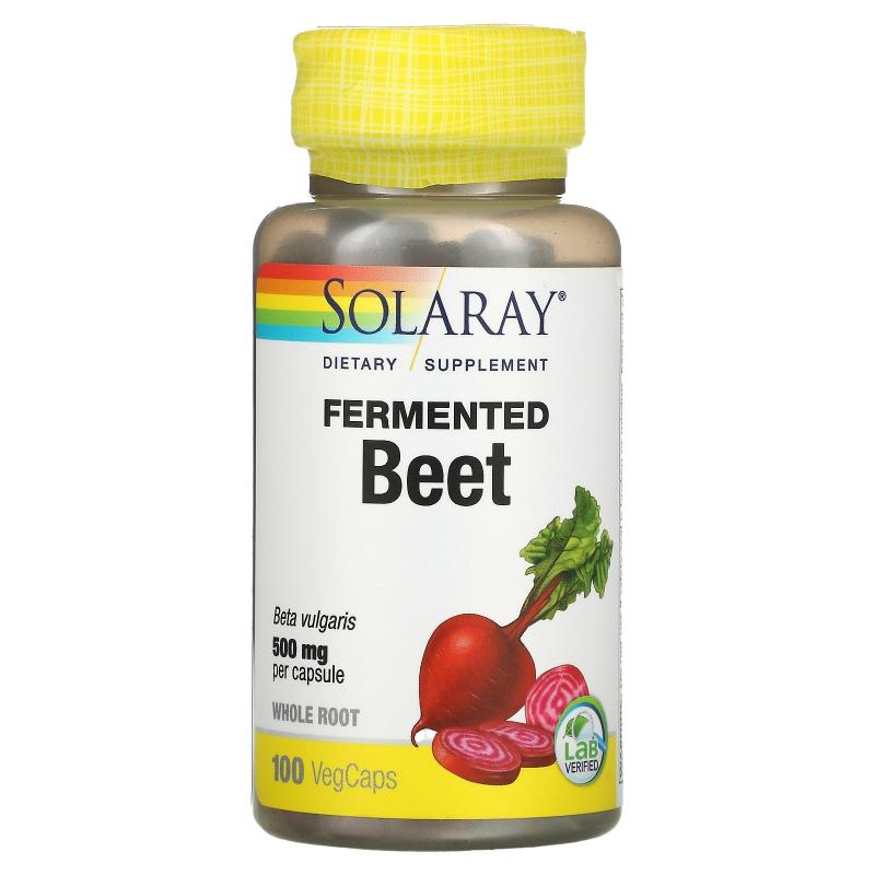 Solaray, Organically Grown Fermented Beet, 500 mg, 100 VegCaps