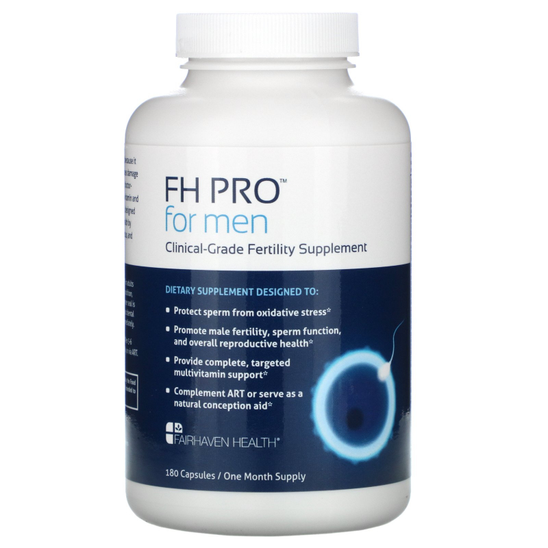 Fairhaven Health, FH Pro for Men, Clinical Grade Fertility Supplement, 180 Capsules