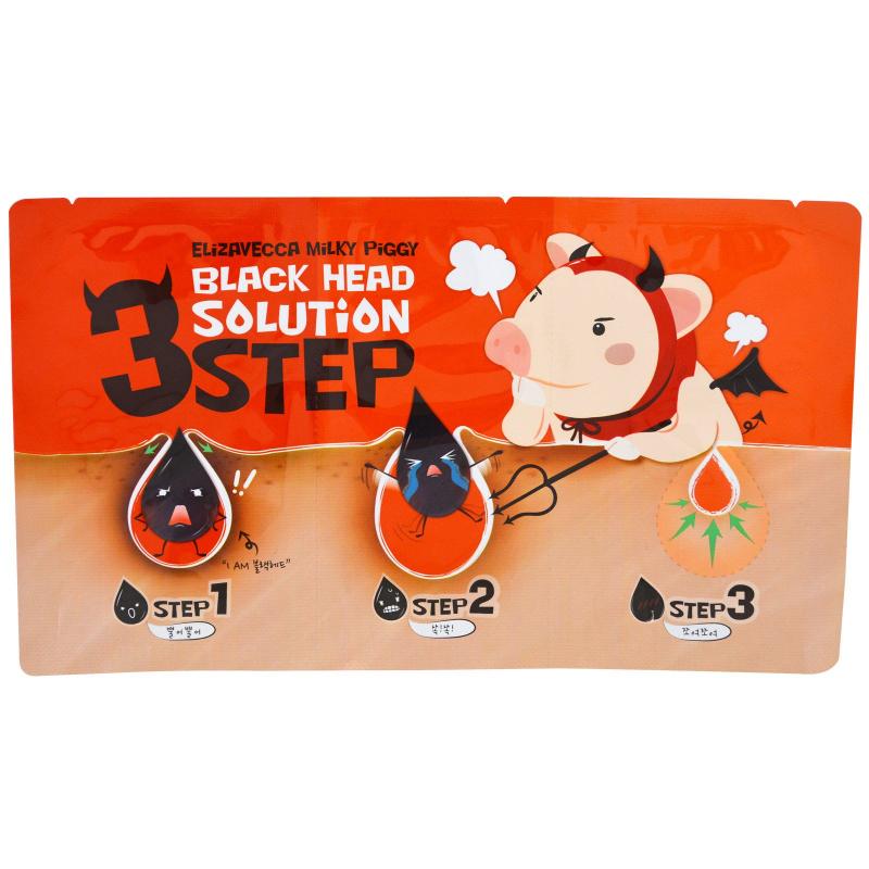 Elizavecca, Milky Piggy 3 Step Black Head Solution, 6 g