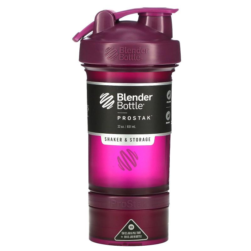 Blender Bottle, BlenderBottle, ProStak, Plum, 22 oz