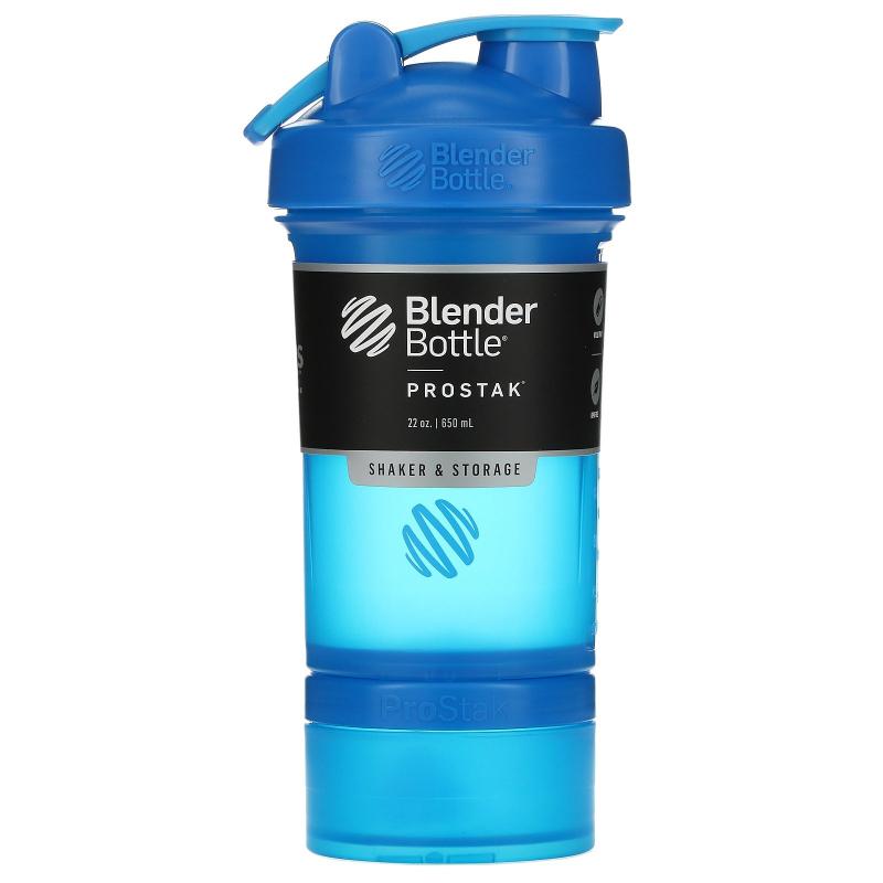 Blender Bottle, BlenderBottle, ProStak, Cyan, 22 oz