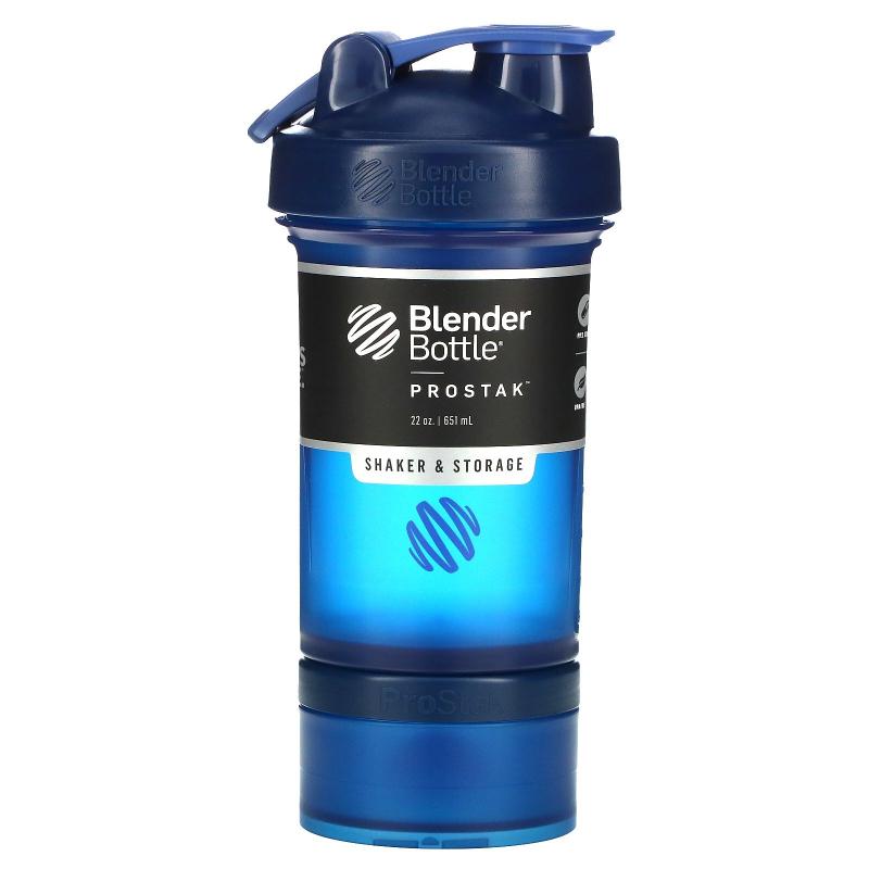 Blender Bottle, BlenderBottle, ProStak, Navy, 22 oz