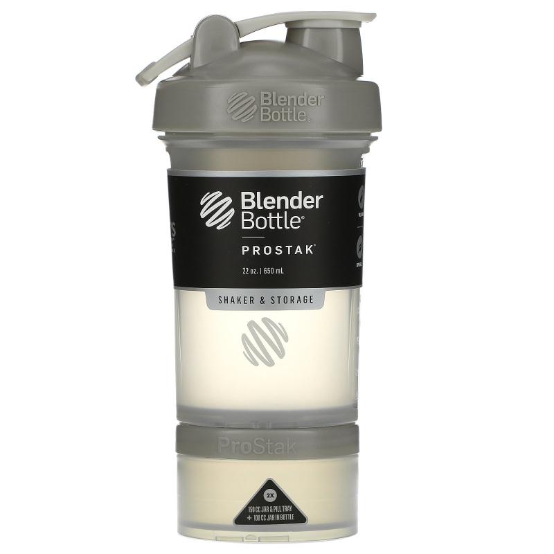 Blender Bottle, BlenderBottle, ProStak, Pebble Grey, 22 oz