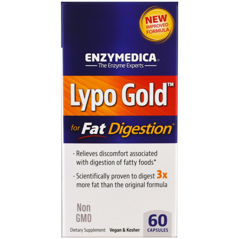 Enzymedica, Lypo Gold, For Fat Digestion, 60 Capsules