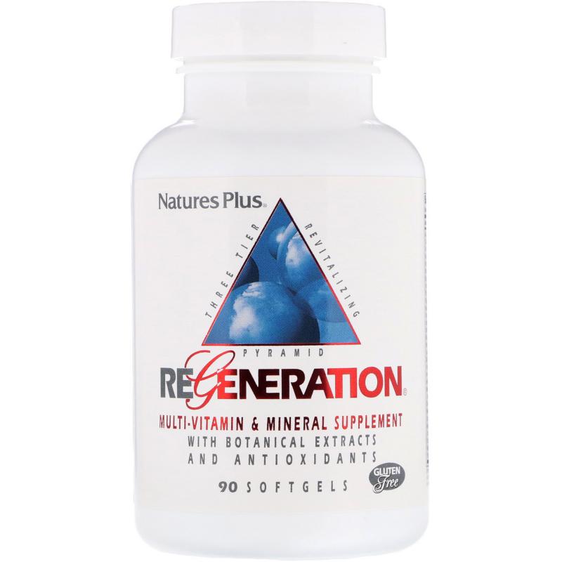 Nature's Plus, Regeneration, Multi-Vitamin & Mineral Supplement, 90 Softgels