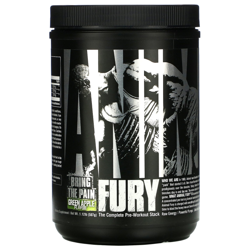 Universal Nutrition, Animal Fury, The Complete Pre-Workout Stack, Green Apple , 495.9 g