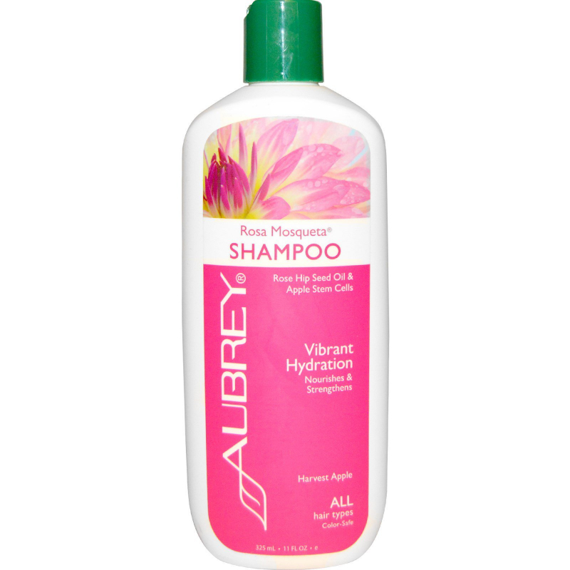 Aubrey Organics, Rosa Mosqueta Shampoo, Vibrant Hydration, All Hair Types, 11 fl oz (325 ml)