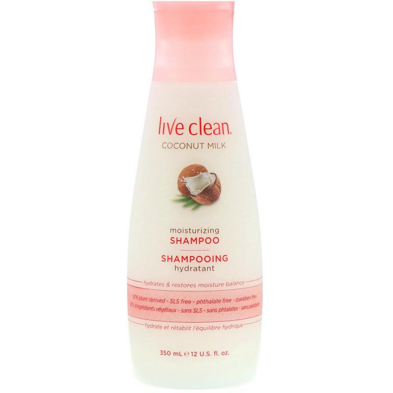 Live Clean, Moisturizing Shampoo, Coconut Milk, 12 fl oz (350 ml)