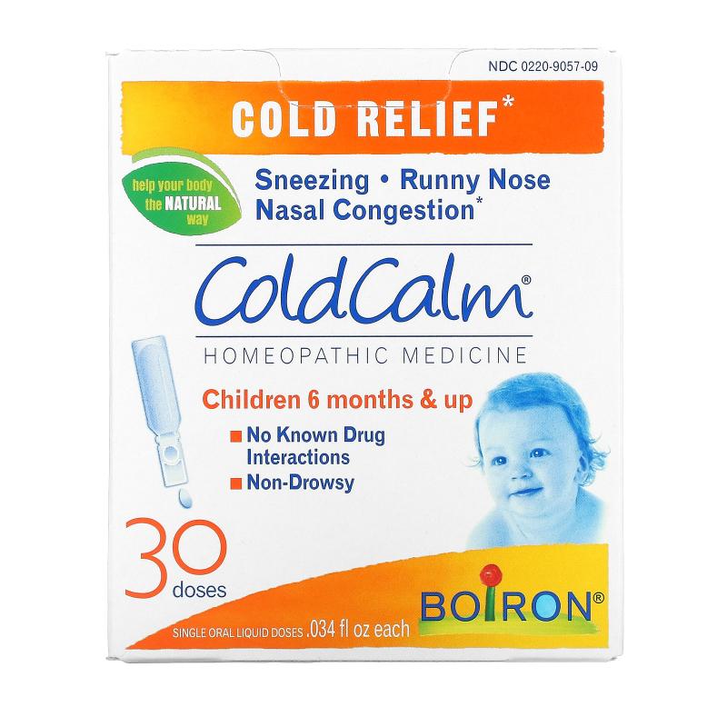 Boiron, ColdCalm, 30 Oral Liquid Doses, .034 fl oz Each