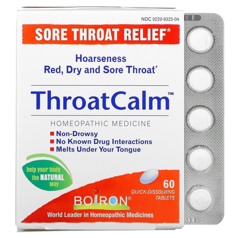 Boiron, ThroatCalm, 60 Quick Dissolving Tablets