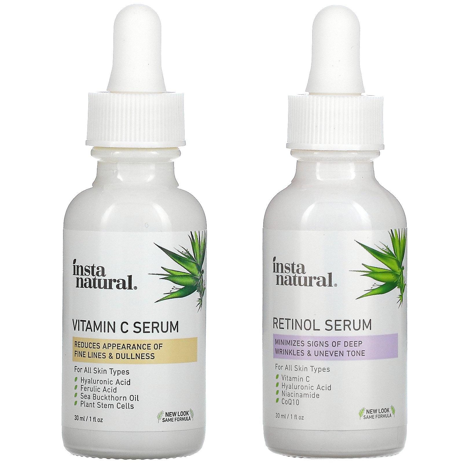 InstaNatural, Day & Night Skin Duo, Age Defying Serum Kit, 2 Bottles, 1 oz (30 ml) Each