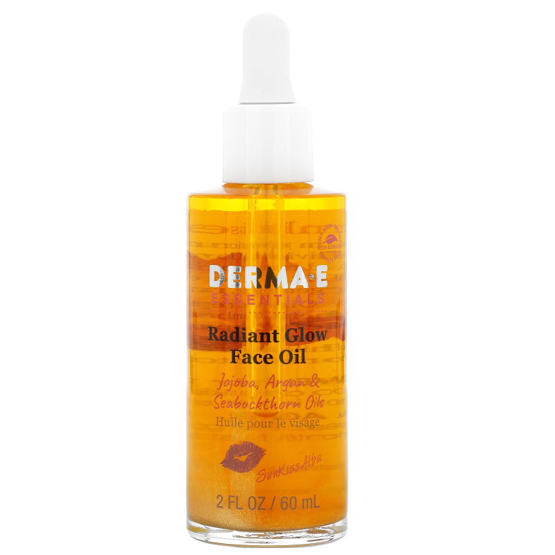 Derma E, SunKiss Alba, Radiant Glow Face Oil, Jojoba Argan & Seabuckthorn Oils , 2 fl oz (60 ml)