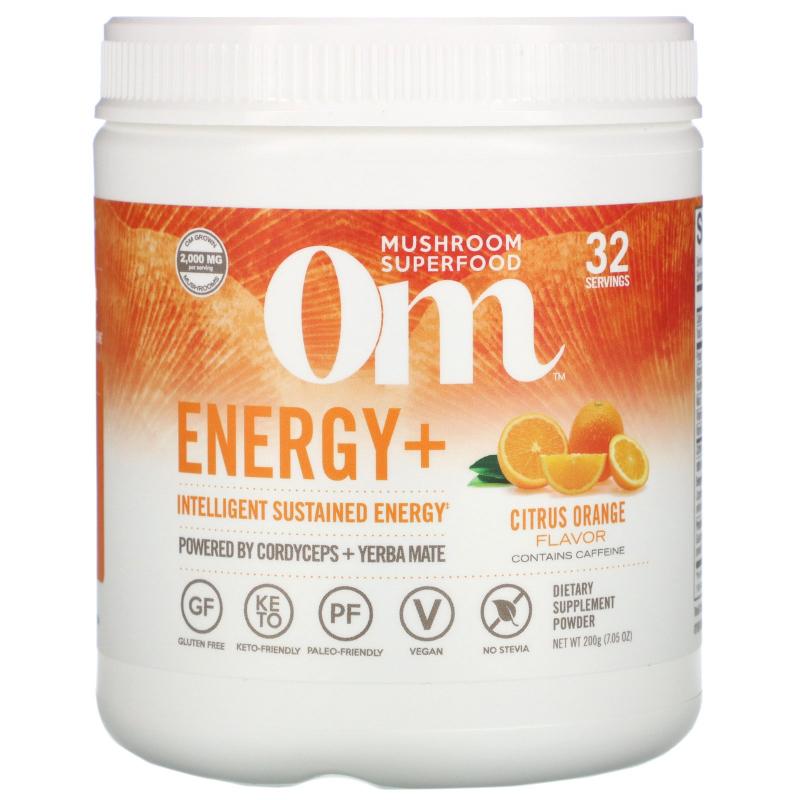 OM Organic Mushroom Nutrition, Energy, Mushroom Powder, Citrus Orange, 7.14 oz (200 g)