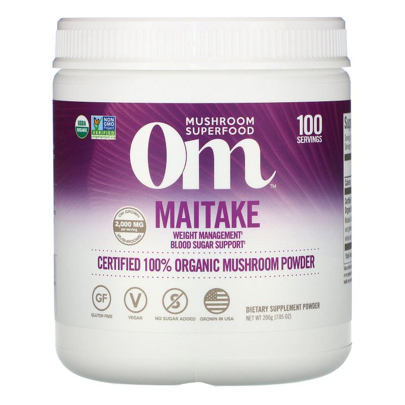 Organic Mushroom Nutrition, Maitake, Mushroom Powder, 7.14 oz (200 g)