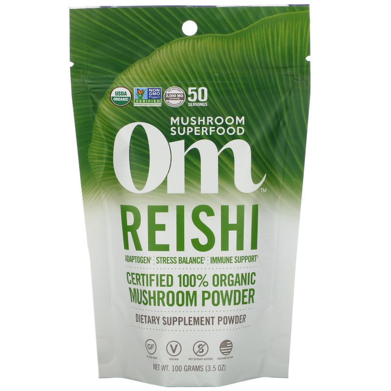 OM Organic Mushroom Nutrition, Reishi, Mushroom Powder, 3.57 oz (100 g)