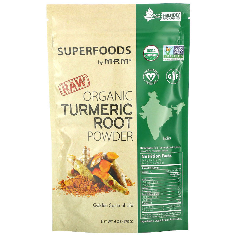 MRM, Raw, Organic Turmeric Root Powder, 6 oz (170 g)