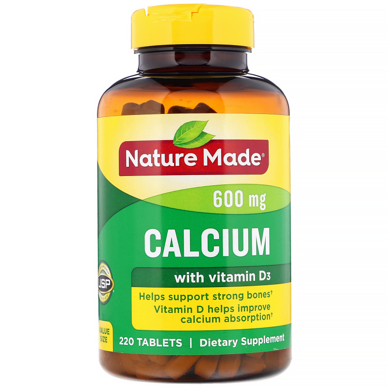 Nature Made, Calcium, 600 mg, 220 Tablets