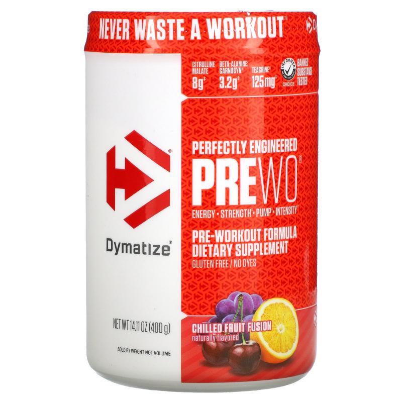 Dymatize Nutrition, Pre W.O., Chilled Fruit Fusion, 14.11 oz (400 g)